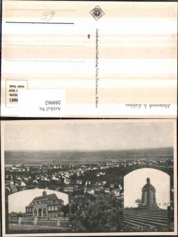 280962,Metternich b. Koblenz Totale Denkmal Mehrbildkarte 0
