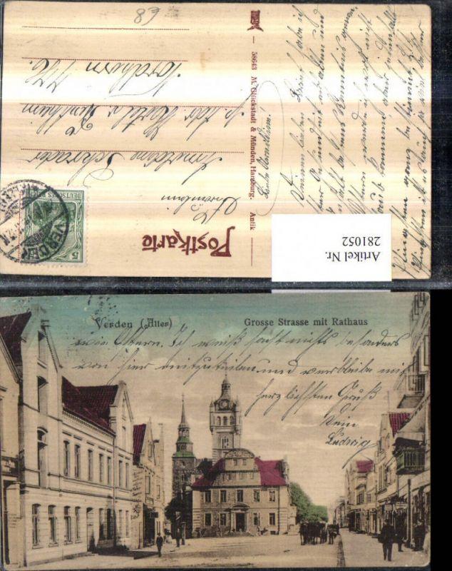 281052,Verden an d. Aller Große Straße m. Rathaus Straßenansicht 0