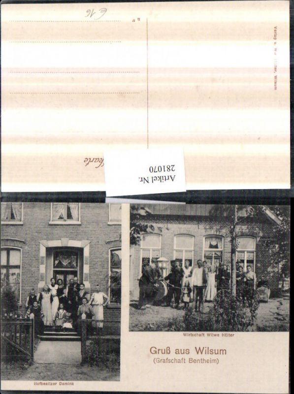 281070,Gruß aus Wilsum Wirtschaft Witwe Hölter u. Hofbesitzer Damink Mehrbildkarte 0