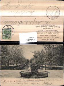 281089,Berlin Tiergarten Goldfischteich Statue