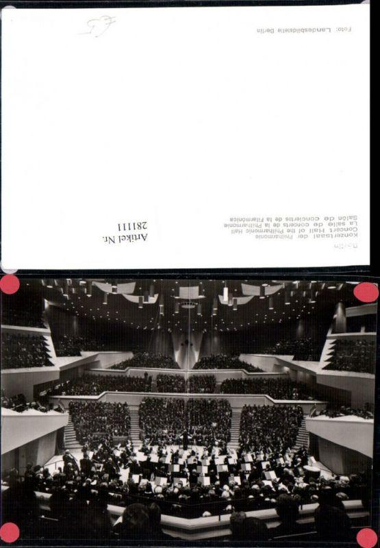 281111,Berlin Konzertsaal der Philharmonie Innenansicht 0