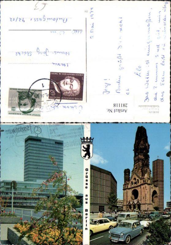 281118,Berlin Europa-Center Mercedes Gedächtniskirche Mehrbildkarte 0