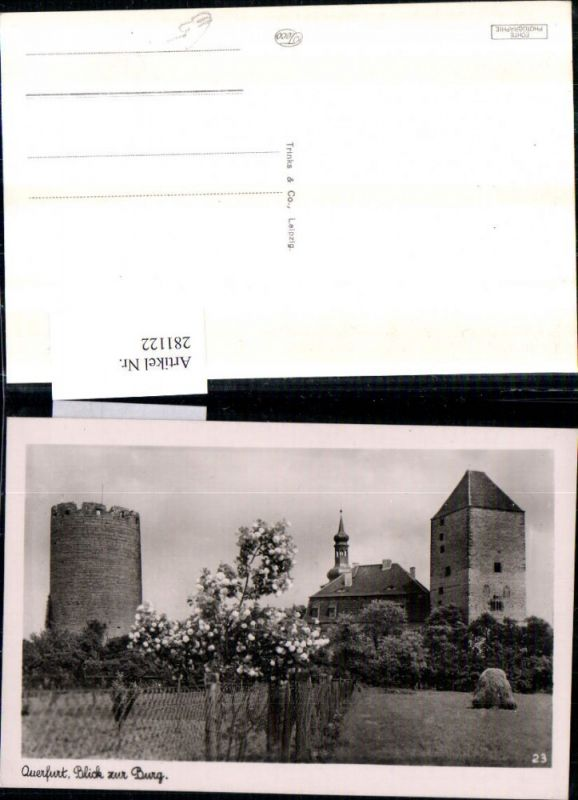 281122,Querfurt Blick zur Burg Turm 0