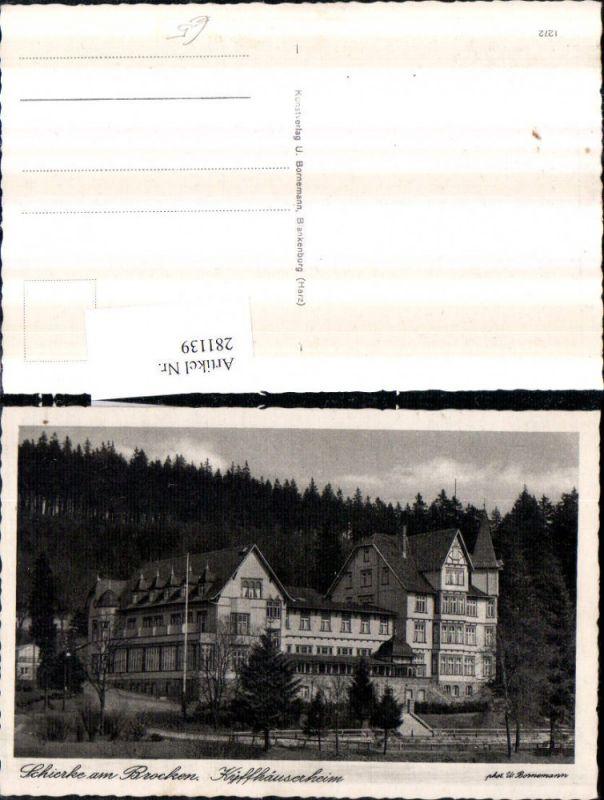 281139,Schierke am Brocken Kyffhäuserheim 0