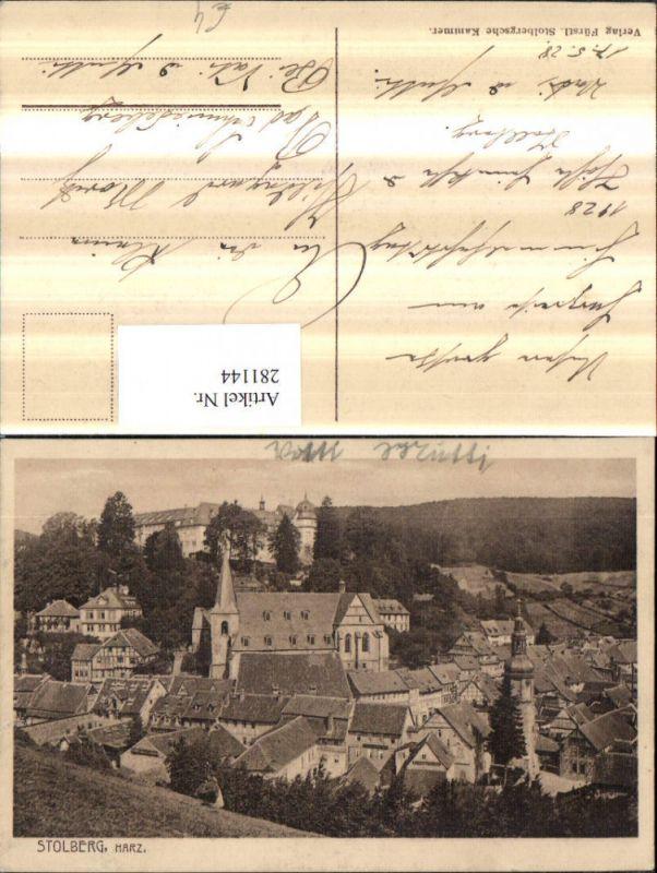 281144,Stolberg im Harz Totale m. Schloss