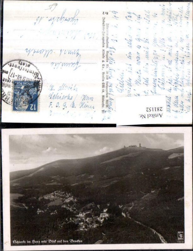 281152,Schierke im Harz Totale m. Blick auf d. Brocken 0