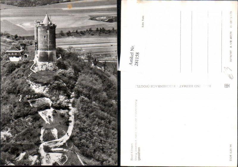 281158,Bad Kösen Burg Saaleck vom Turm der Rudelsburg  0