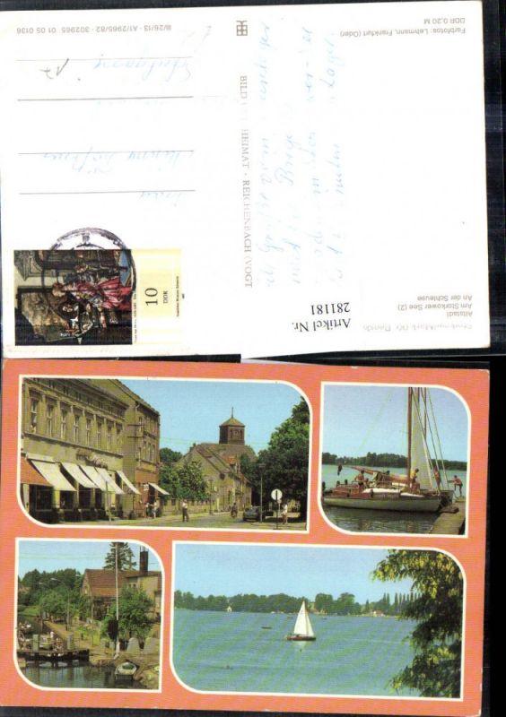 281181,Storkow Mark Altstadt Storkower-See Schleuse Segelboot Mehrbildkarte 0