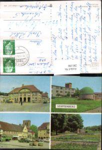 281190,Senftenberg Bahnhof Planetarium Platz der Freundschaft Ehrenmal Mehrbildkarte