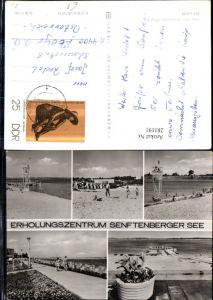 281191,Senftenberg Senftenberger See Strand Strandleben Promenade Mehrbildkarte