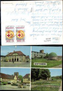281192,Senftenberg Bahnhof Planetarium Platz der Freundschaft Ehrenmal Mehrbildkarte