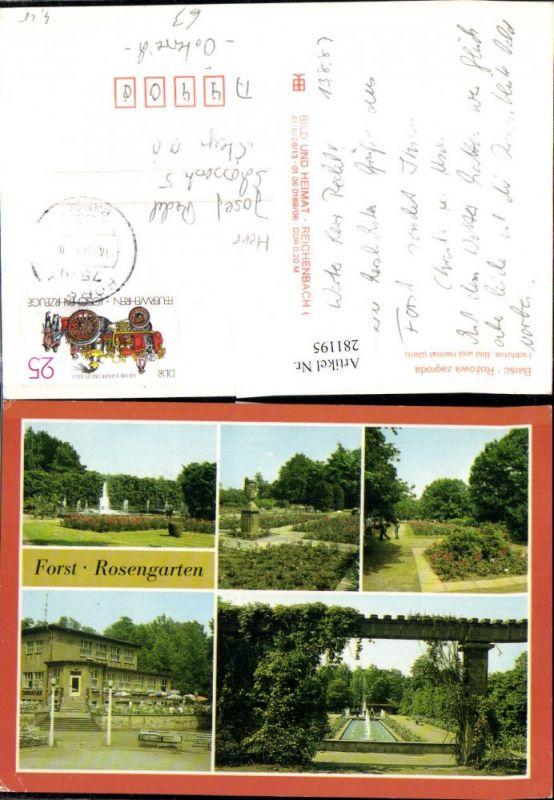 281195,Forst Rosengarten Barsc Rozowa zagroda Springbrunnen Mehrbildkarte 0