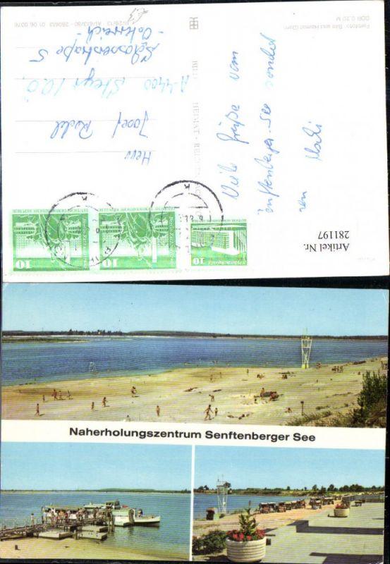 281197,Senftenberg Großkoschen Senftenberger See Strand Promenade Mehrbildkarte 0