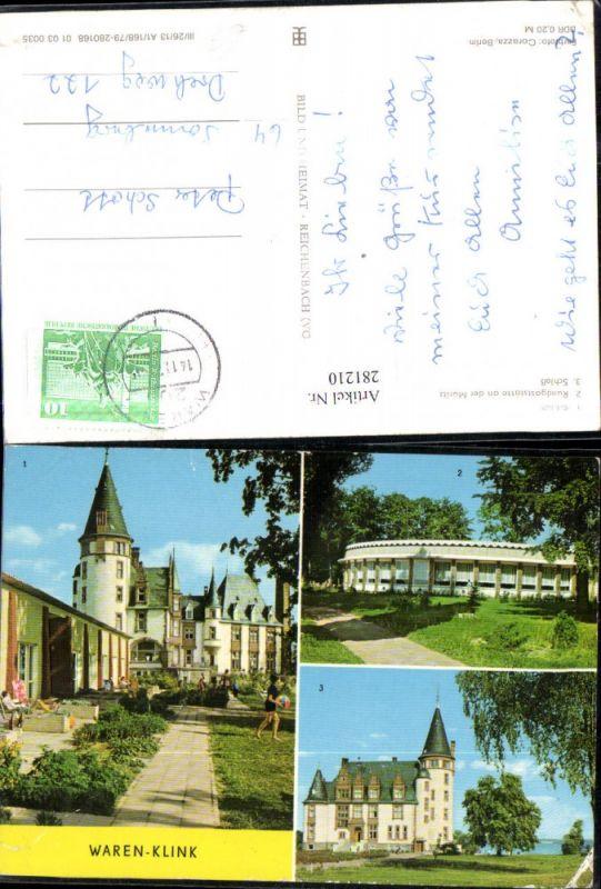 281210,Waren Klink Schloss Rundgaststätte an d. Müritz Mehrbildkarte