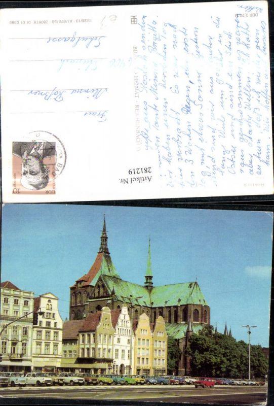 281219,Rostock Ernst-Thälmann-Platz Kirche Geschäfte 0