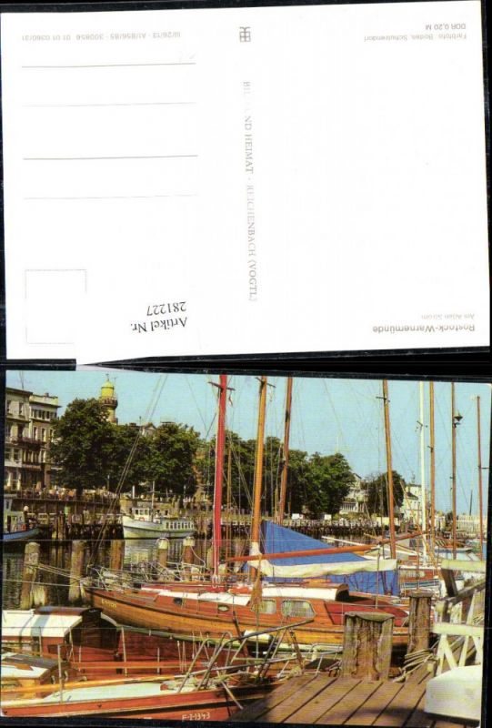281227,Rostock Warnemünde Am Alten Strom Hafen Segelboote Boote 0