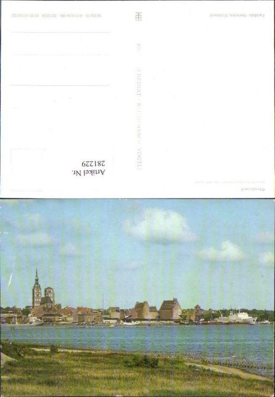 281229,Stralsund Blick vom Rügendamm auf d. Stadt Teilansicht 0