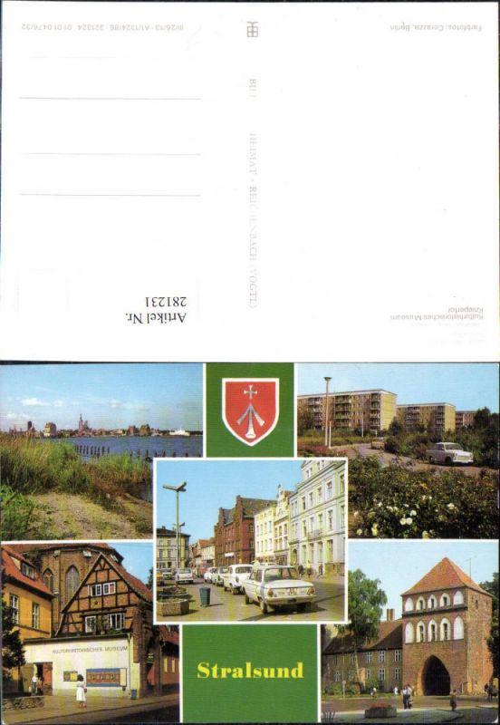 281231,Stralsund Hafen Leninplatz Kulturhistorisches Museum Kniepertor Mehrbildkarte 0