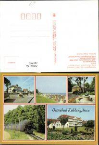 281233,Ostseebad Kühlungsborn FDGB-Erholungsheim Konzertgarten Schmalspurhahn Strand Mehrbildkarte