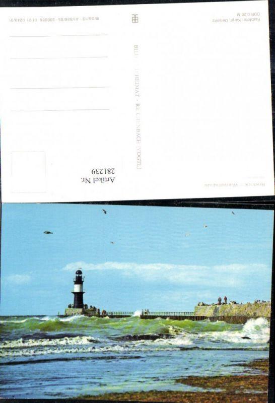 281239,Rostock Warnemünde An d. Mole Leuchtturm Strand 0