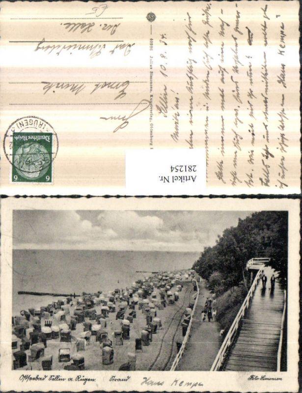 281254,Ostseebad Sellin auf Rügen Strand Strandleben Strandkörbe 0