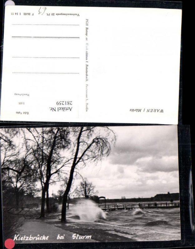 281259,Waren an d. Müritz Kietzbrücke Brücke b. Sturm 0