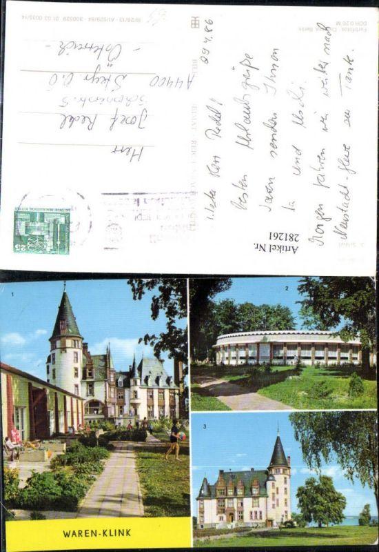 281261,Waren Klink Schloss Rundgaststätte an d. Müritz Mehrbildkarte 0