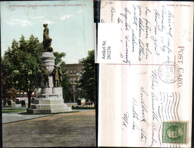 281276,Ohio Columbus State Capitol Grounds Our Jewels Denkmal 0