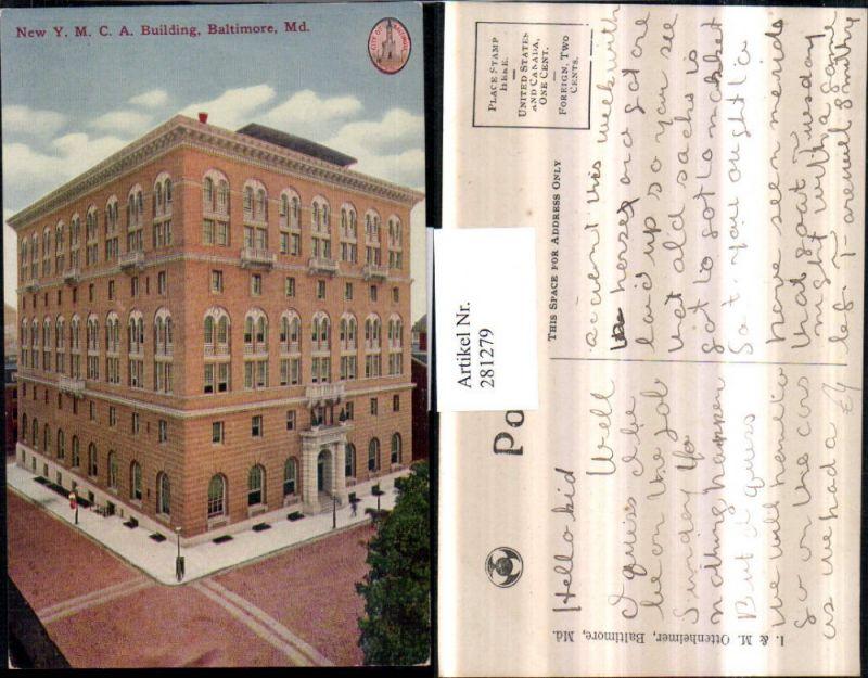 281279,Maryland Baltimore New Y.M.C.A. Building Gebäude 0
