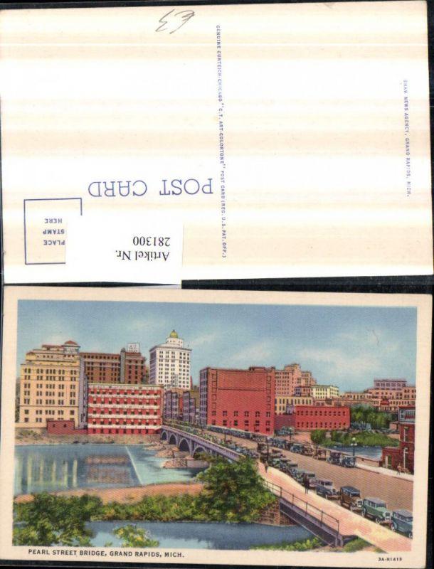 281300,Michigan Grand Rapids Pearl street bridge Brücke 0
