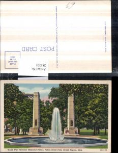 281301,Michigan Grand Rapids Fulton Street Park World war Veterans Memorial Pillars Denkmal