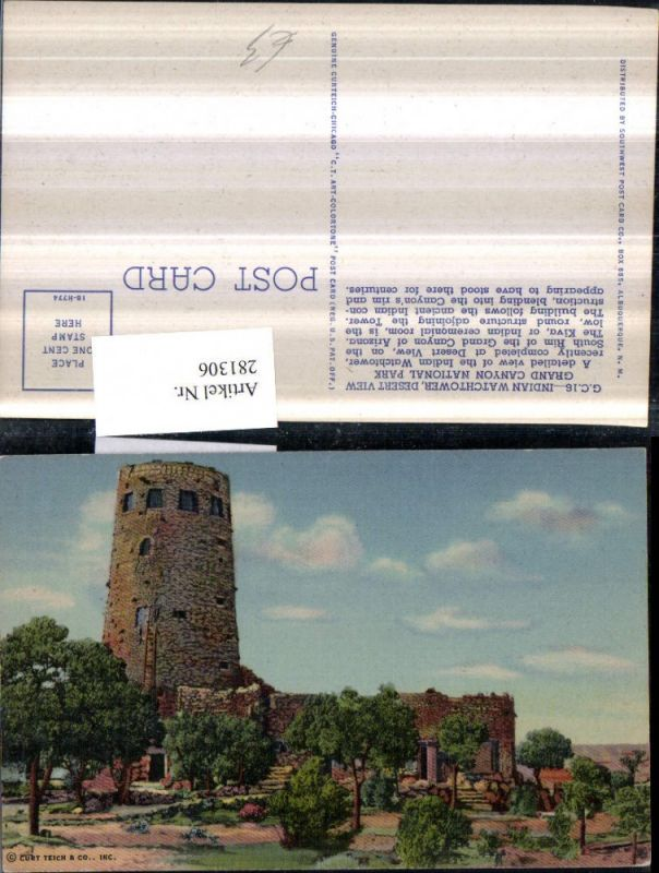 281306,Arizona Grand Canyon National Park Indian Watchtower Turm 0