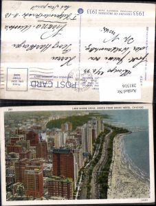 281316,Illinois Chicago Teilansicht Lake shore drive from drake hotel Strand Promenade