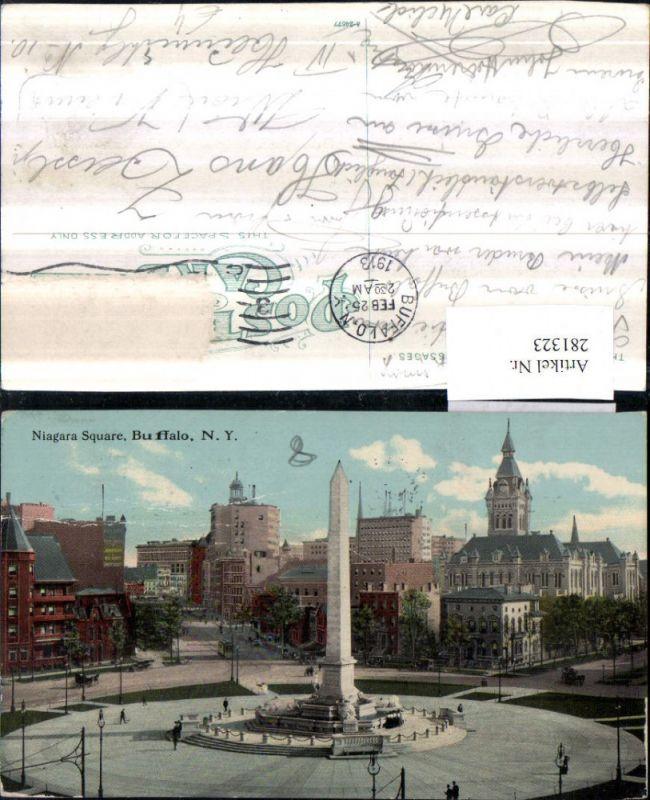 281323,New York Buffalo Niagara Square Obelisk Säule 0