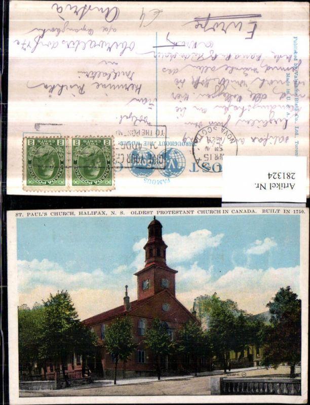 281324,Canada Nova Scotia Halifax St. Pauls Church Kirche 0