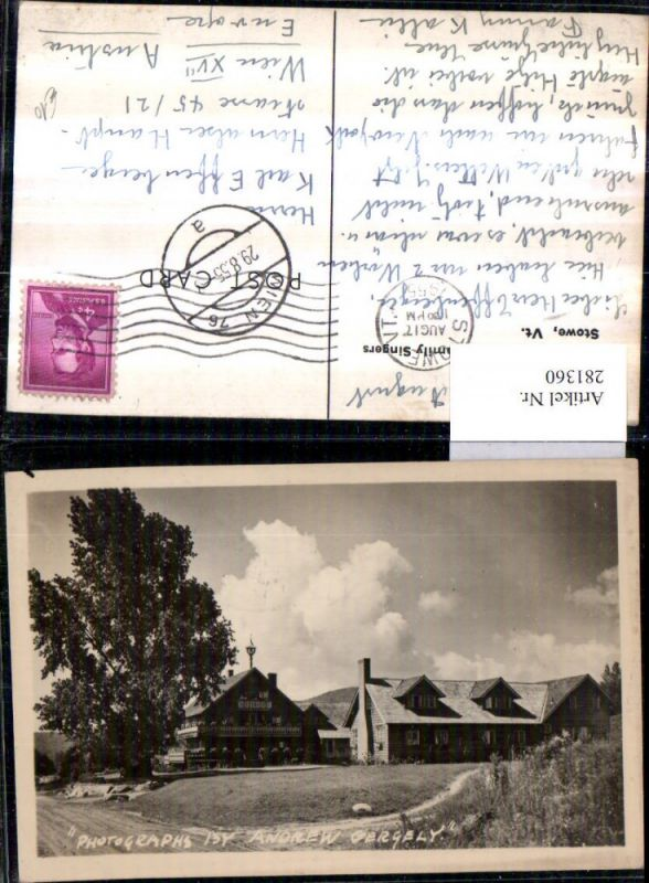 281360,Vermont Stowe Cor Unum Home of the Trapp Family-Singers  0