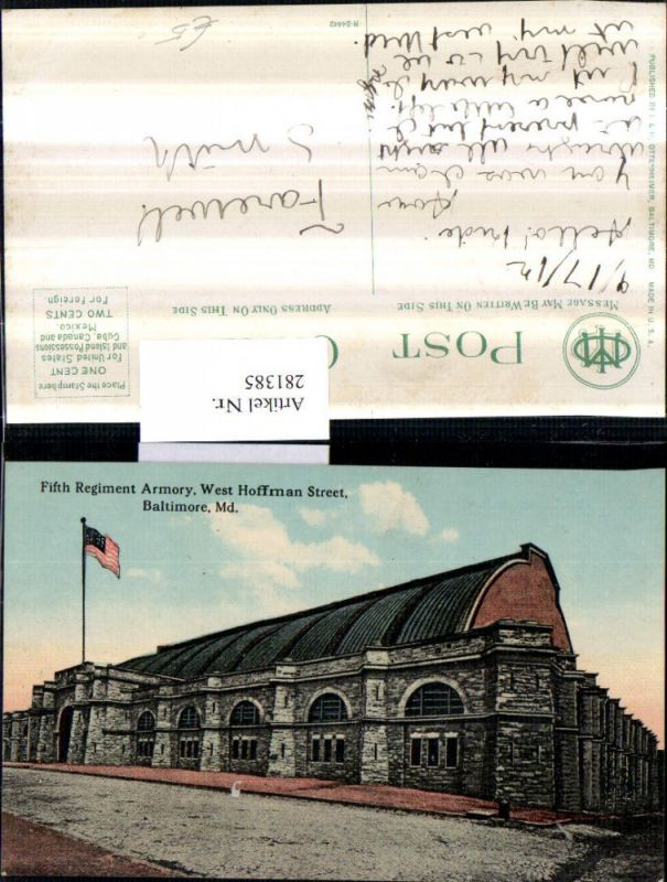 281385,Maryland Baltimore West Hoffman Street Fifth Regiment Armory 0