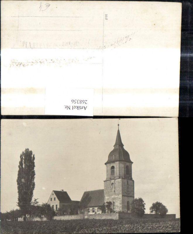 268356,Foto Ak Kirche Friedhof Landschaft  0