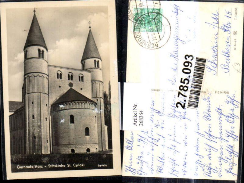 268364,Foto Ak Gernrode/Harz Stiftskirche St Cyriaki Kirche  0