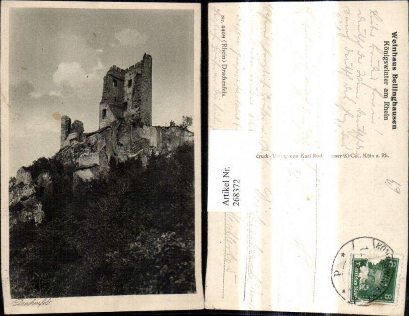 268372,Drachenfels Königswinter a. Rhein Burg Ruine Burgruine  0