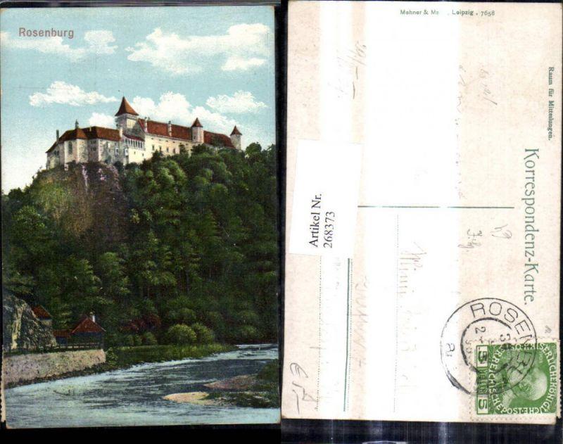 268373,Rosenburg b. Rosenburg-Mold Schloss Burg  0