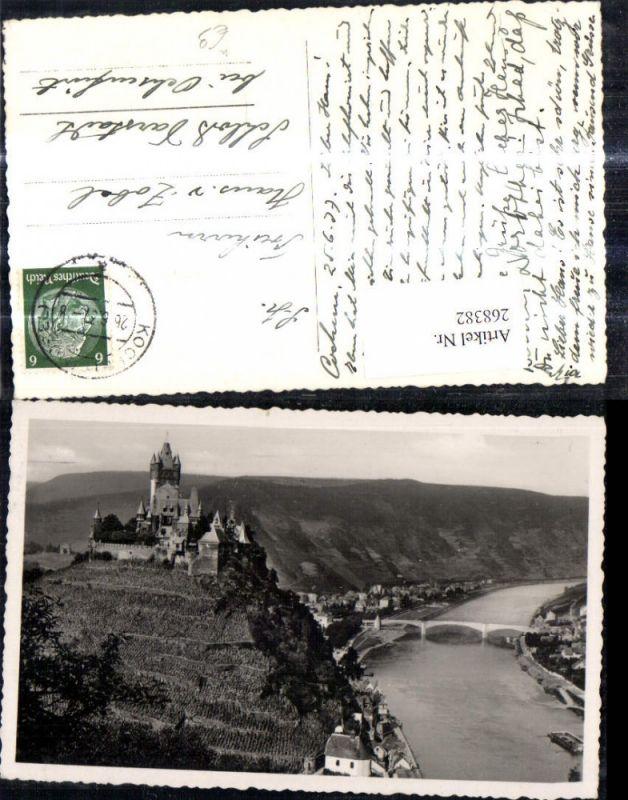 268382,Foto Ak Burg Reichsburg Cochem  0