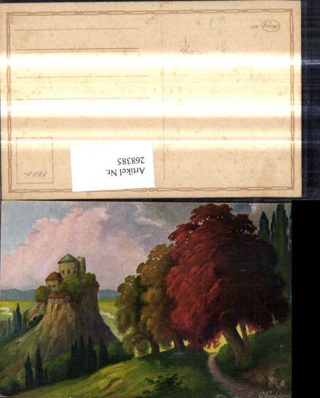 268385,Künstler Ak G. Fiebiger Burg Schloss Landschaft  0