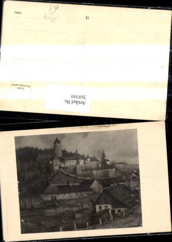 268389,Foto Ak n. Gemälde Burg  0