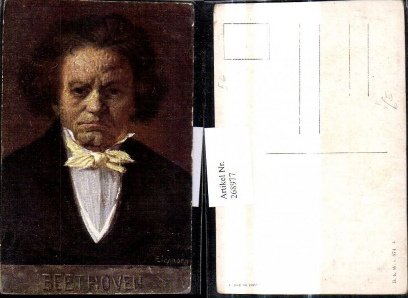 268977,Künstler Ak Eichhorn Ludwig van Beethoven Komponist pub B.K.W.I. 874/4