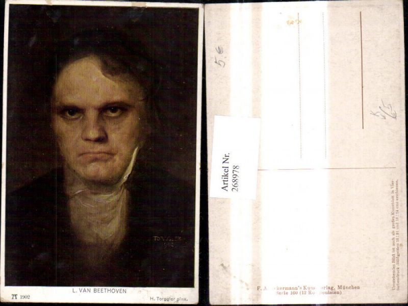 268978,Künstler Ak H. Torggler Ludwig van Beethoven Komponist pub F. A. Ackermann 160