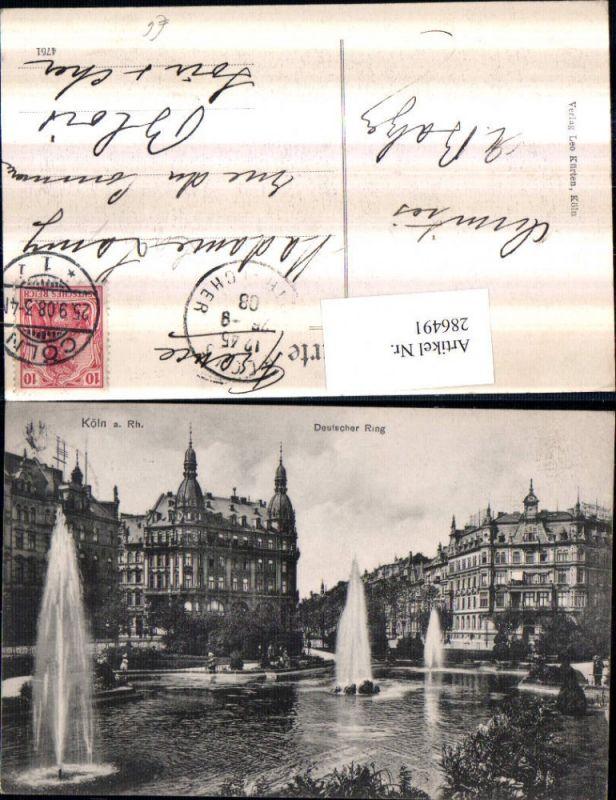 286491,Köln am Rhein Deutscher Ring Springbrunnen Fontänen