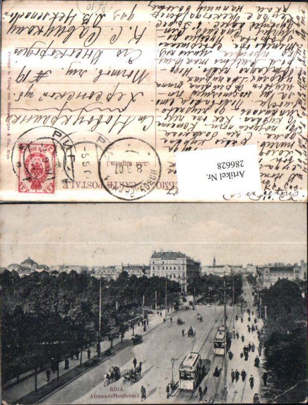 286628,Riga Alexanderboulevard Straßenbahnen Nr. 176
