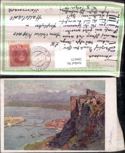 286675,Künstler AK Karl Ludwig Prinz Skutari Shkodra Totale vom alten türkischen Kastell pub Kriegsfürsorge 582