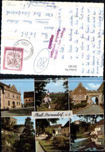 291383,Stadt Drosendorf Teilansicht Kirche Tor Wehr Straßenansicht Mehrbildkarte